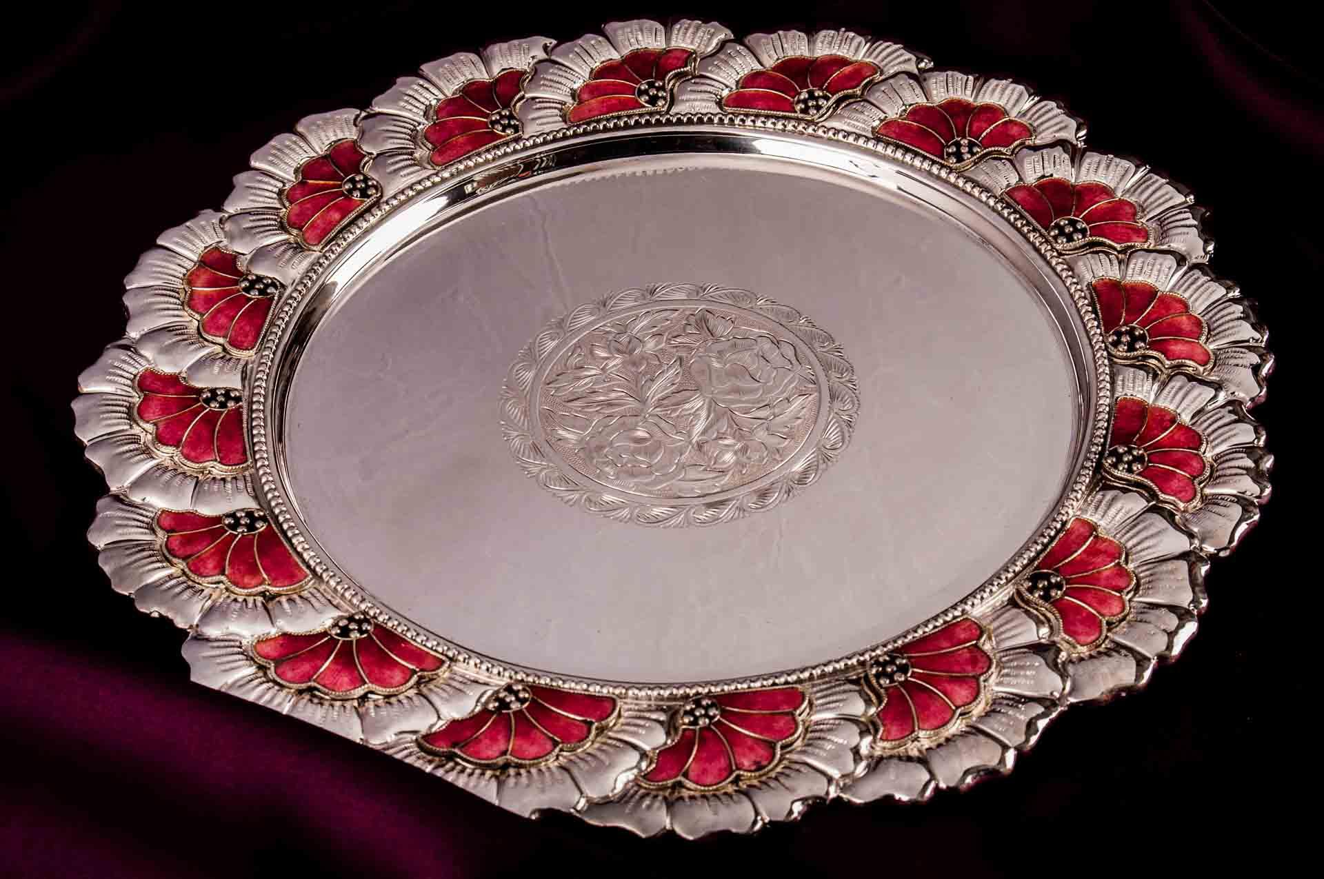 silver puja aarta thali2