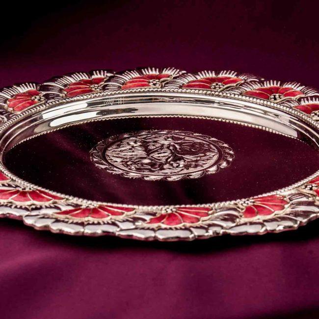silver puja aarta thali3